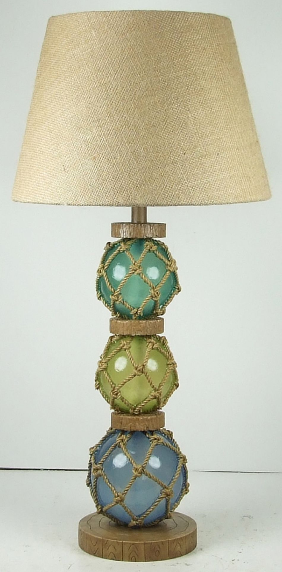 Buy Glass Buoy Electric Lamp 28in Nautical Decor