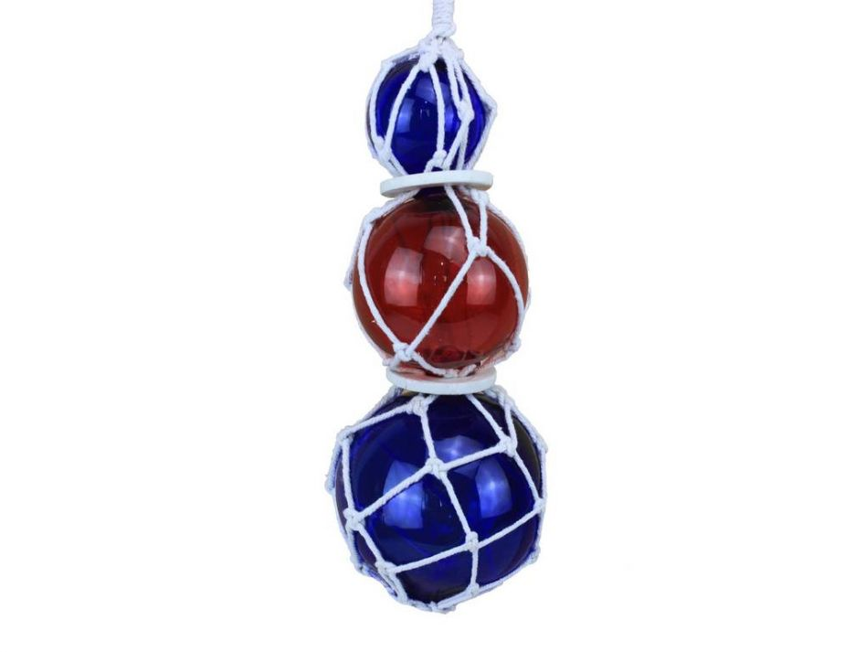 Buy blue red japanese glass ball fishing floats