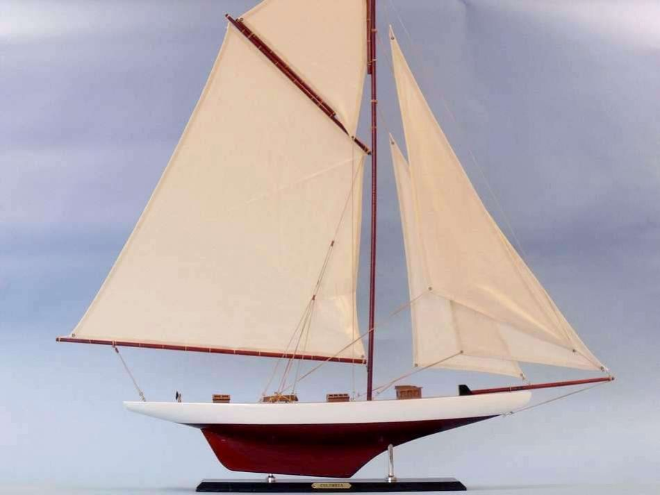 Columbia 42 wood sailboat model large model sailing for Decoration yacht