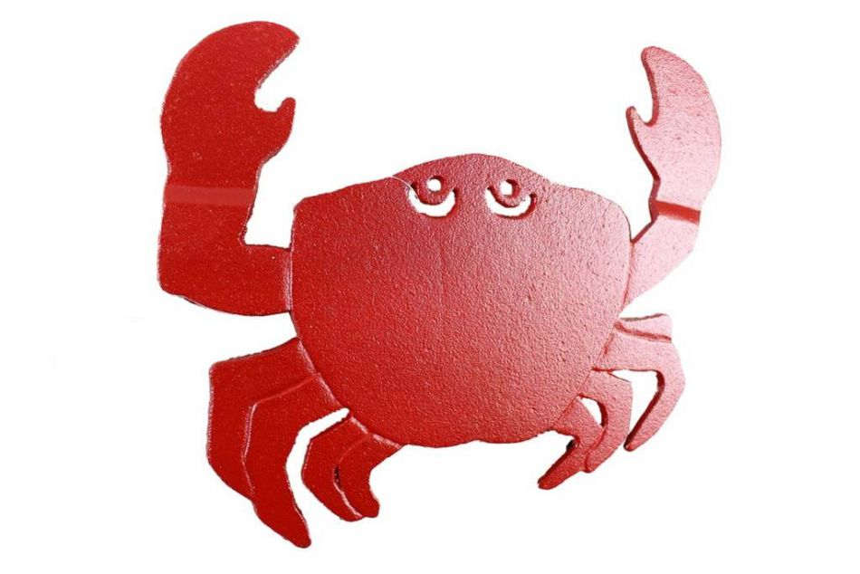 buy rustic red cast iron crab trivet 11 inch wholesale decorating ideas contemporary blue crab wall paint