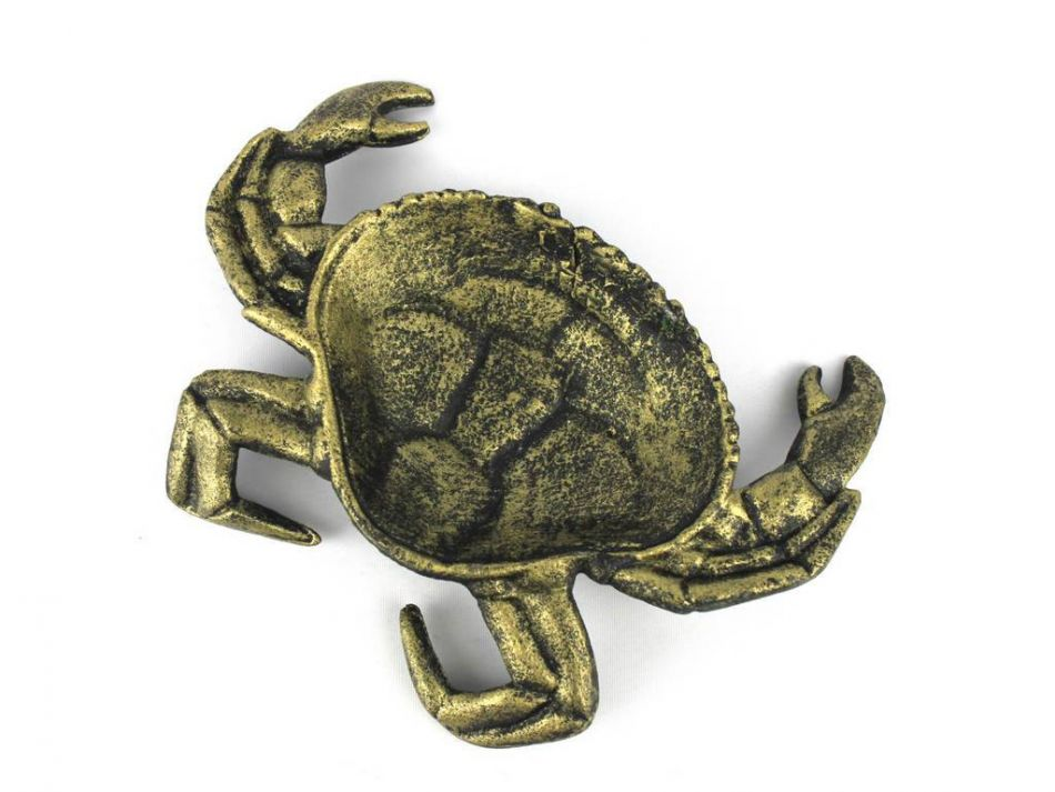Buy Antique Gold Cast Iron Crab Decorative Bowl 7 Inch