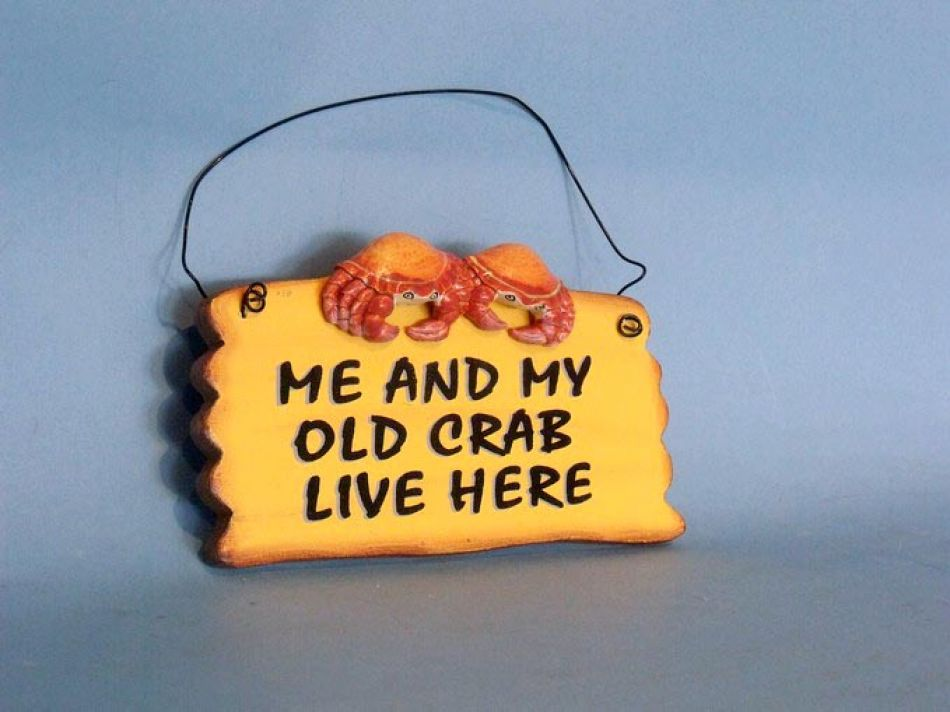 Buy Wooden Me And My Crab Live Here Beach Sign 8in