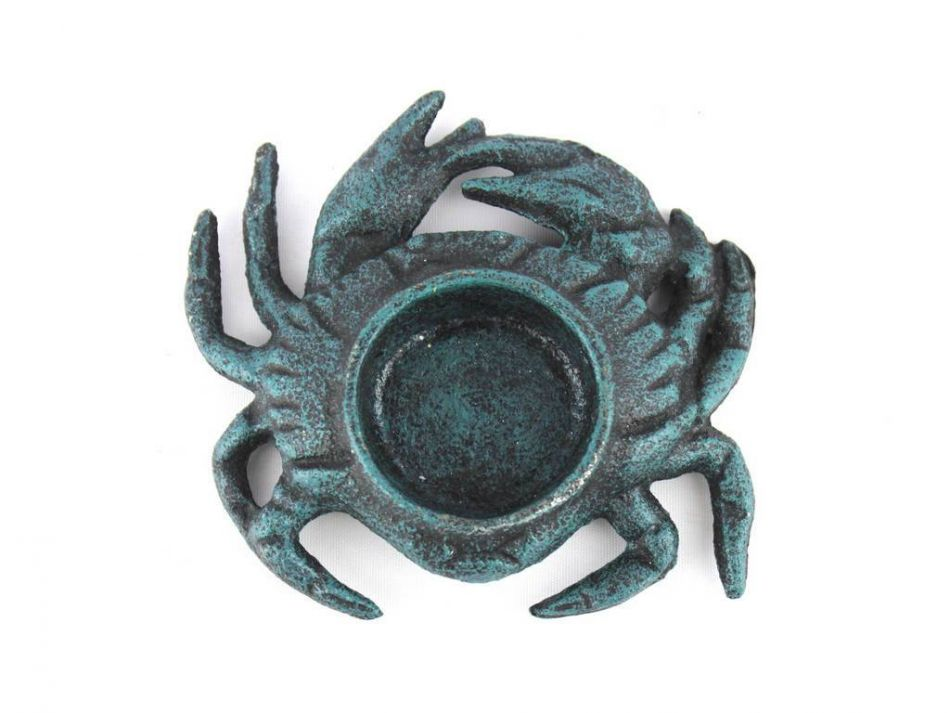 Buy Seaworn Blue Cast Iron Crab Tealight Holder 4 5 Inch