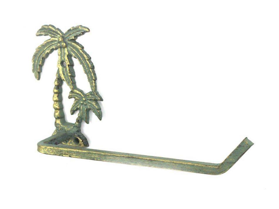 Antique Bronze Cast Iron Palm Tree Toilet Paper Holder 10 Quot