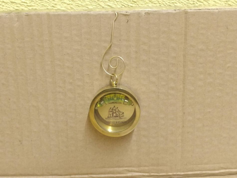 Solid brass clinometer level christmas ornament quot