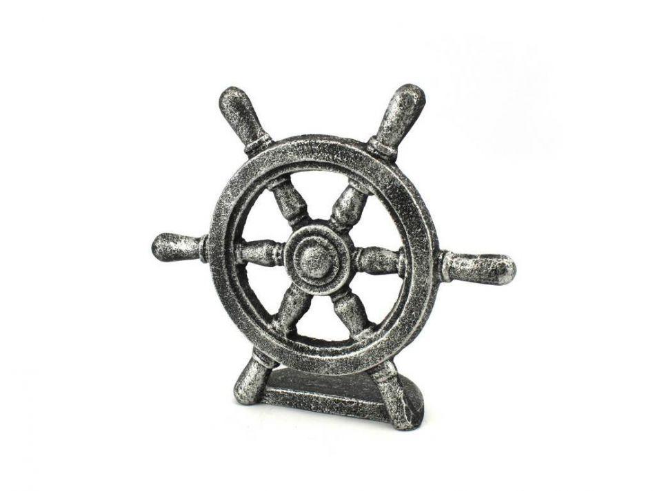 Buy antique silver cast iron ship wheel door stopper 9 Decorative door stoppers