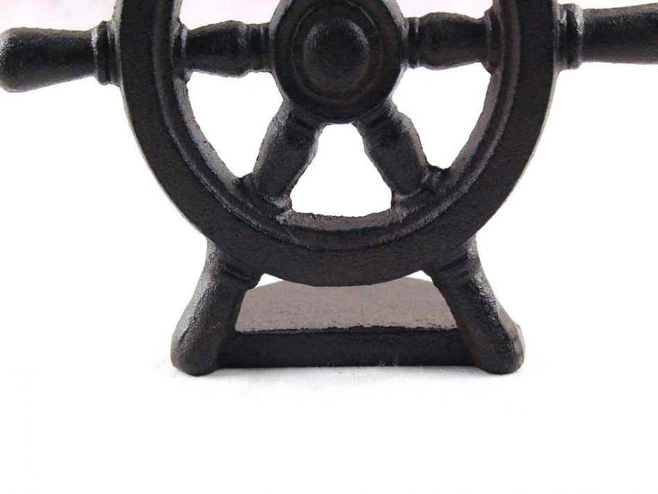 Buy Cast Iron Ship Wheel Door Stopper 9 Inch Nautical