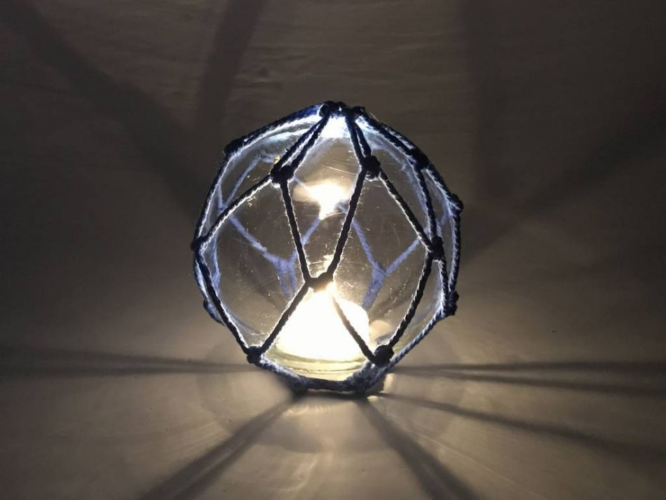 Buy tabletop led lighted clear japanese glass ball fishing