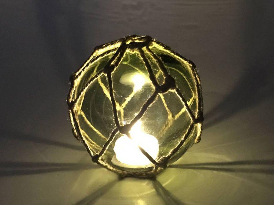 Buy tabletop led lighted green japanese glass ball fishing