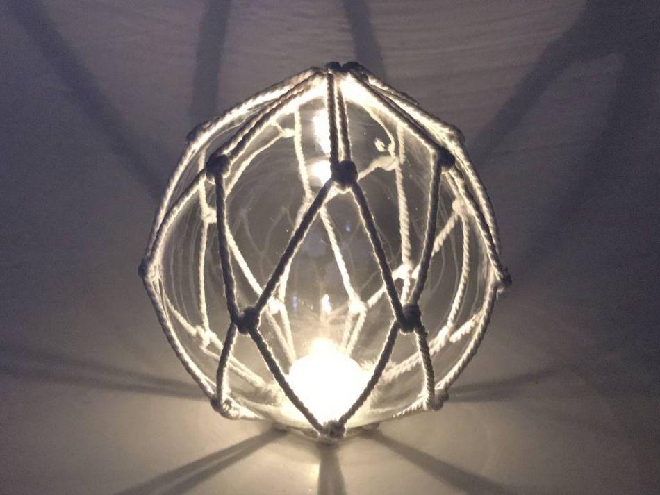 Sea Gull Lighting Windgate 9 In W 3 Light Brushed Nickel: Buy Tabletop LED Lighted Clear Japanese Glass Ball Fishing