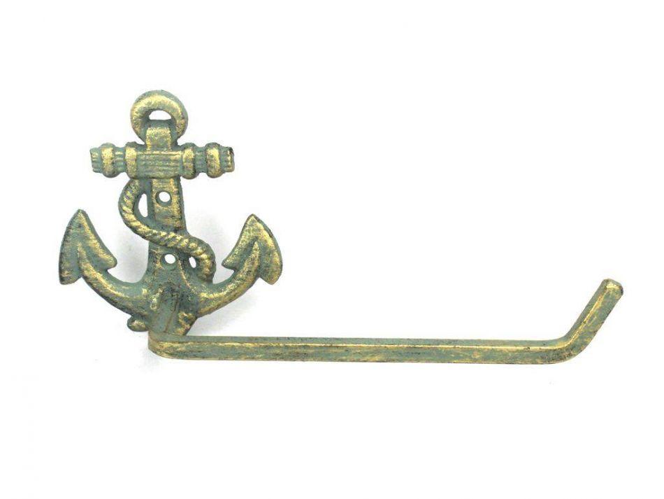 Buy Antique Bronze Cast Iron Anchor Toilet Paper Holder 10