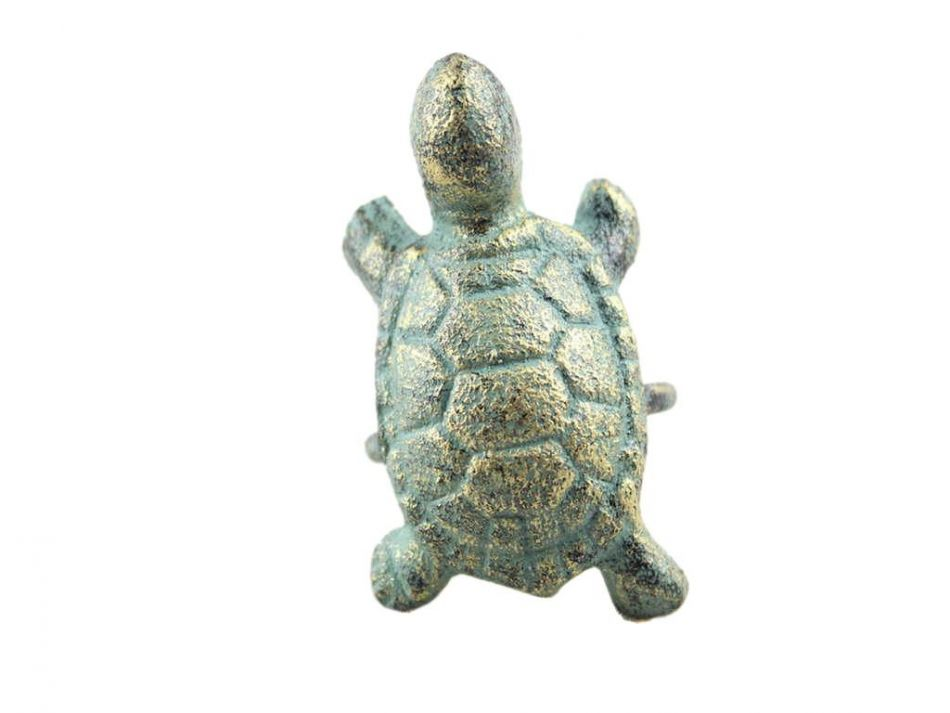 Buy antique bronze cast iron turtle napkin ring 3 inch Turtle decorations for home