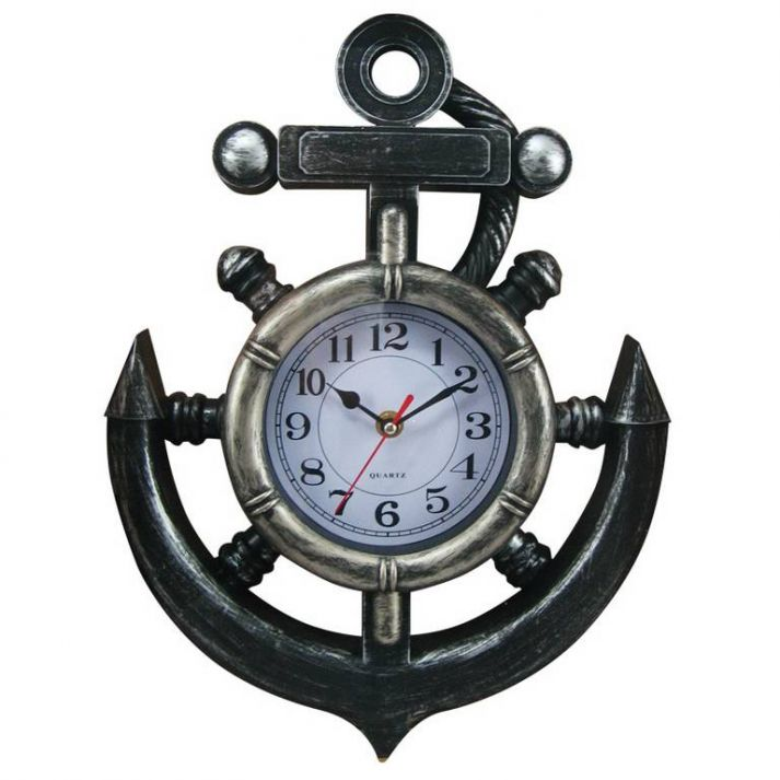 Wholesale Ship Wheel And Anchor Wall Clock 15in