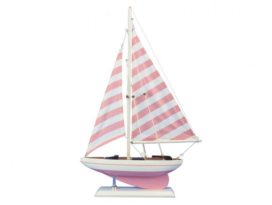 Wooden Pretty In Pink Model Sailboat 17. Not A Kit Amazing Ideas