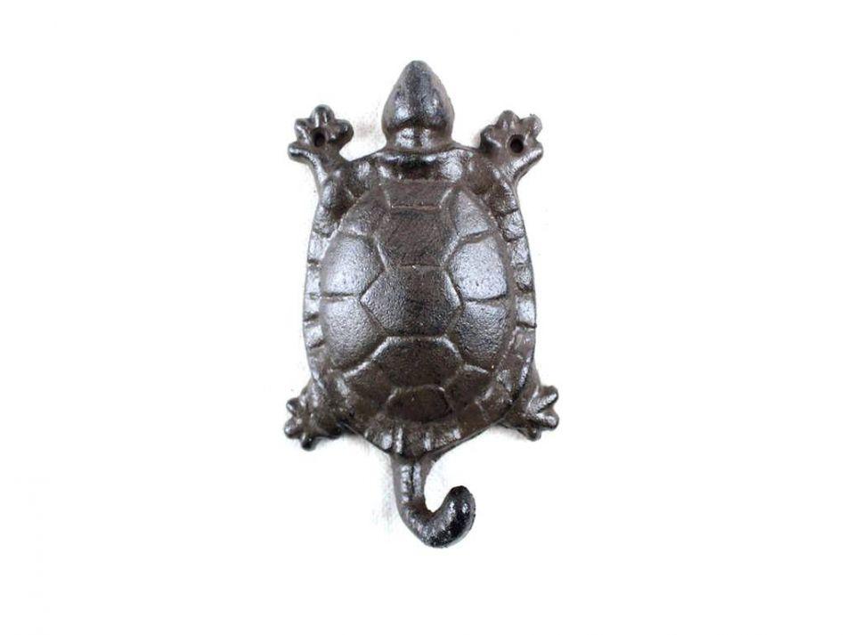 Buy Cast Iron Turtle Key Hook 6 Inch Wholesale Nautical