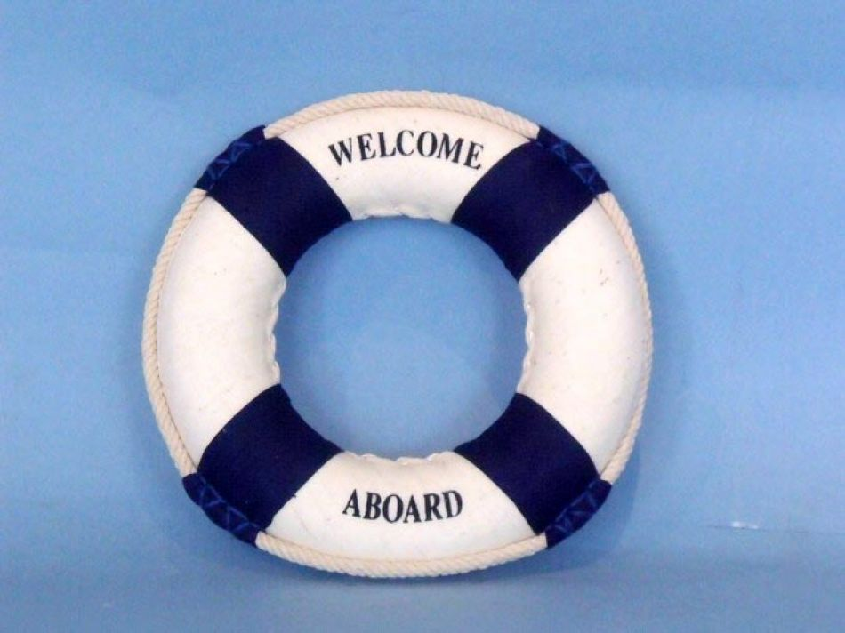 Buy Blue Welcome Aboard Life Ring 6in Model Ships