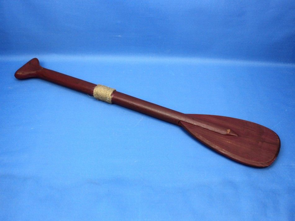 Decorative Wood Paddle Red Oar 24 107