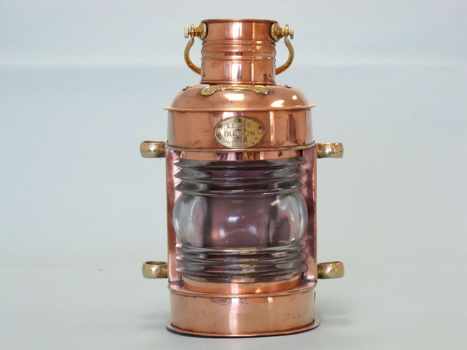 copper lookout oil lamp 14 inch oil lamps copper lamp beach decor. Black Bedroom Furniture Sets. Home Design Ideas