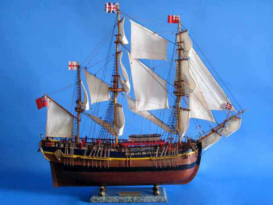 Buy Wooden Hms Endeavour Limited Model Ship 30in Model Ships