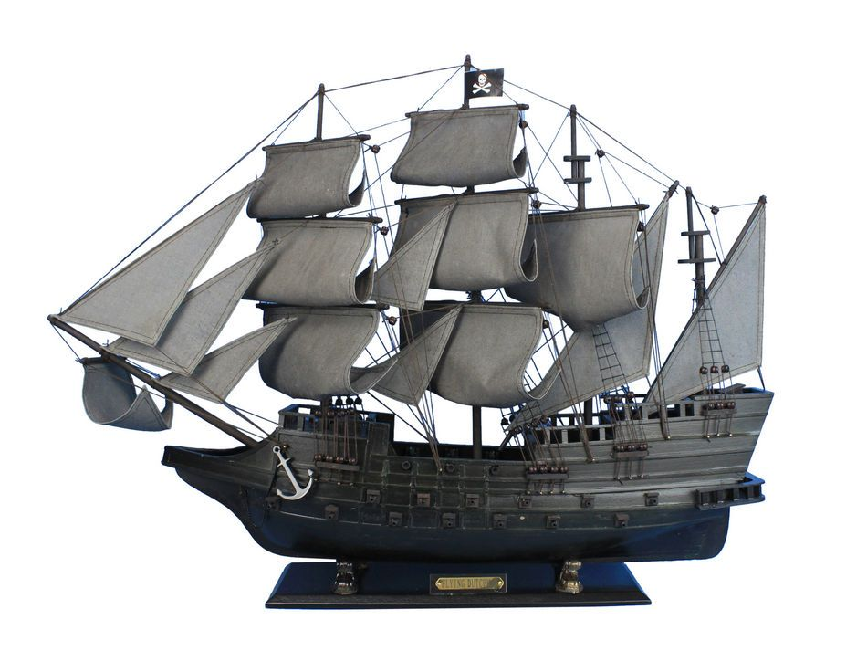 "Flying Dutchman Limited 34"" - Wooden Model Pirate Ship ..."