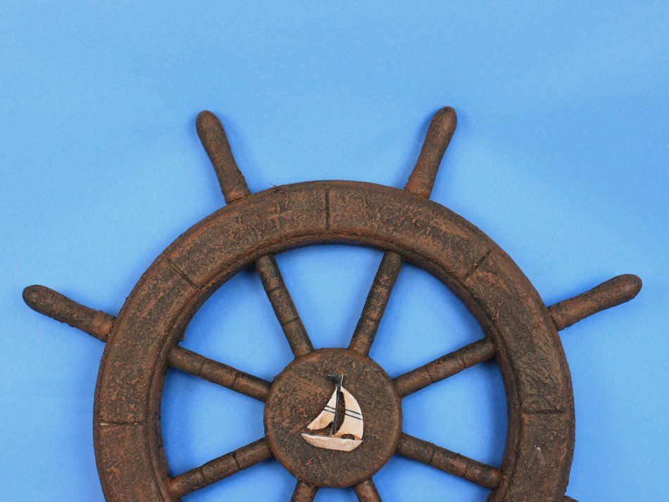 how to make a pirate ship steering wheel