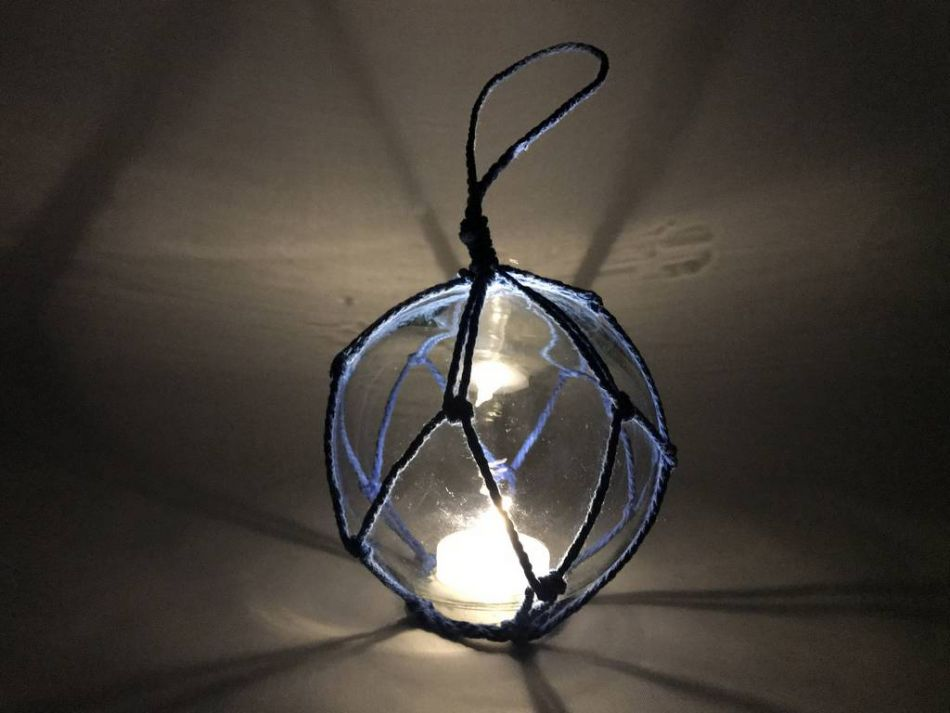 Buy led lighted clear japanese glass ball fishing float