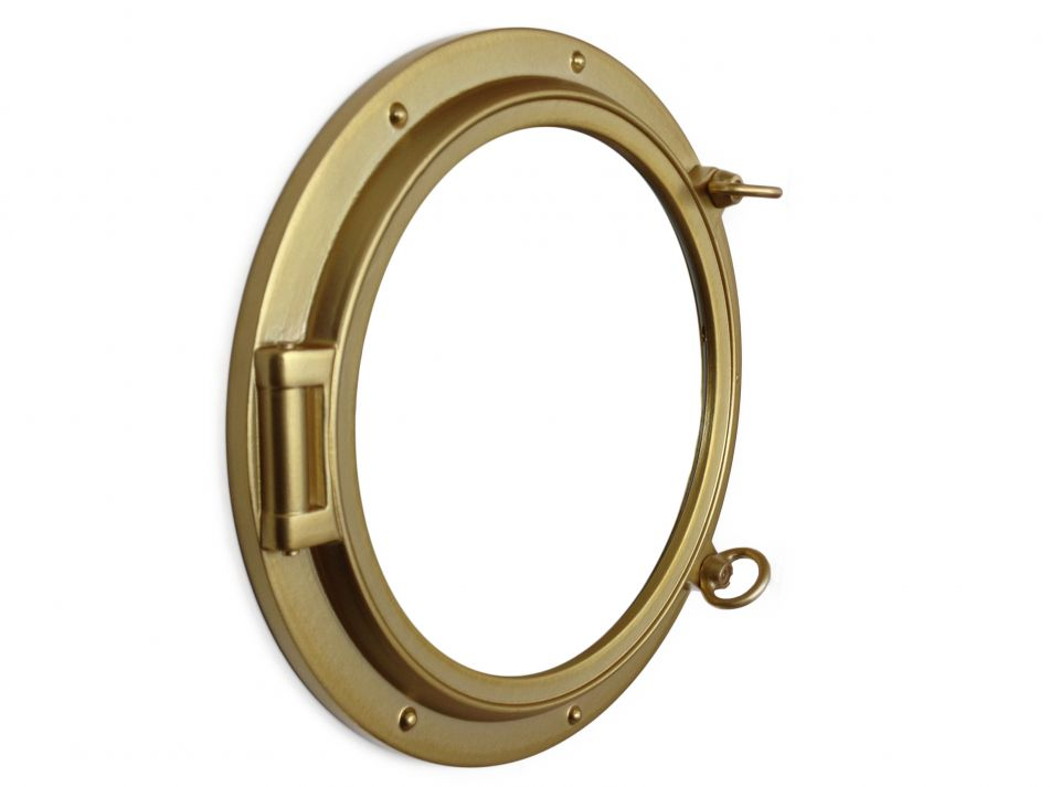 Buy gold decorative ship porthole window 15 inch for Decoration hole