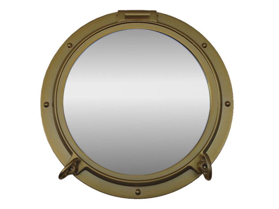Buy Gold Decorative Ship Porthole Mirror 15 Inch