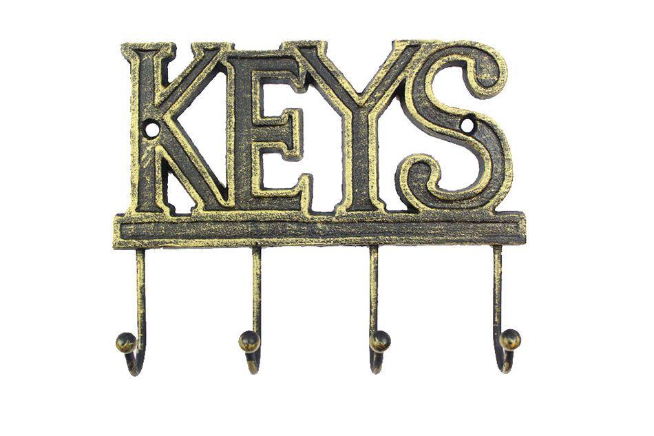 Buy Rustic Gold Cast Iron Keys Hooks 8 Inch Boat Model Antique Cast