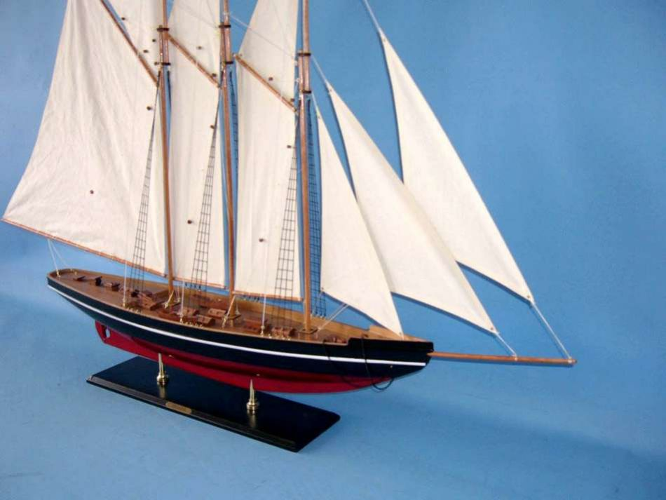 Buy Wooden Atlantic Model Sailboat Decoration 50in Model