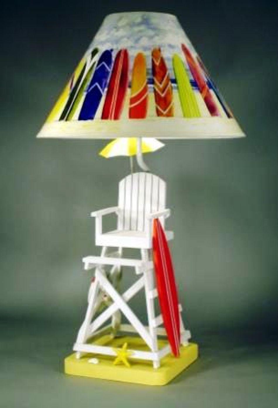 lifeguard chair electric lamp 28quot. Black Bedroom Furniture Sets. Home Design Ideas
