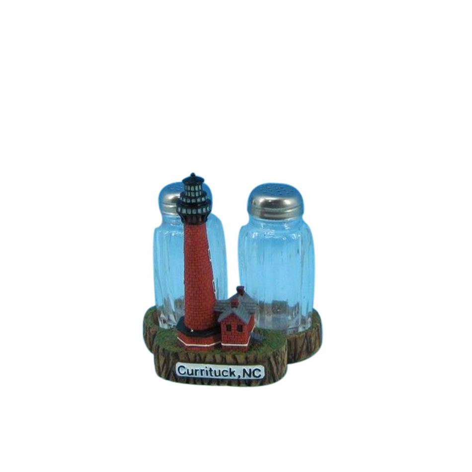 Buy Currituck Lighthouse Salt and Pepper Shakers 4 Inch   Nautical Home