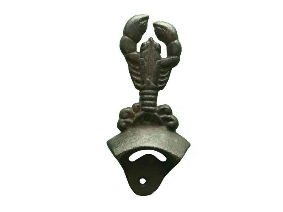cast iron wall mounted lobster bottle opener 6. Black Bedroom Furniture Sets. Home Design Ideas