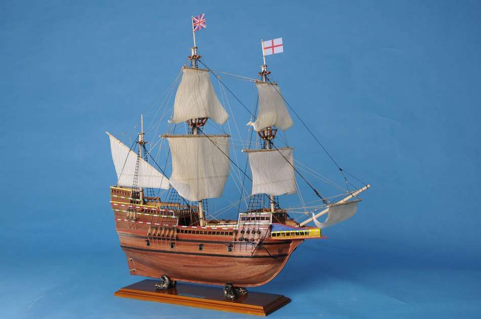 Wooden Sailboats For Sale >> Buy Mayflower Limited Model Ship 30in - Model Ships