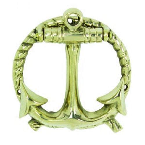 Solid brass anchor with rope door knocker 5 - Anchor door knocker ...