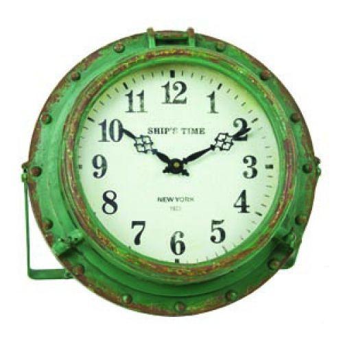 Buy Iron Rustic Seaworn Porthole Clock 9 Inch Nautical