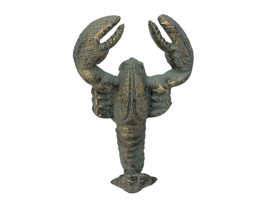 decorative wall hooks buy antique seaworn bronze cast iron wall mounted lobster 11366
