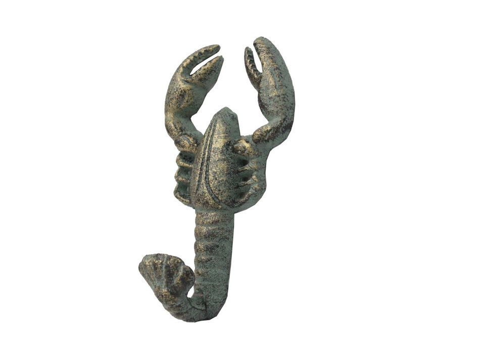 Rustic Bronze Cast Iron Wall Mounted Lobster Hook 5