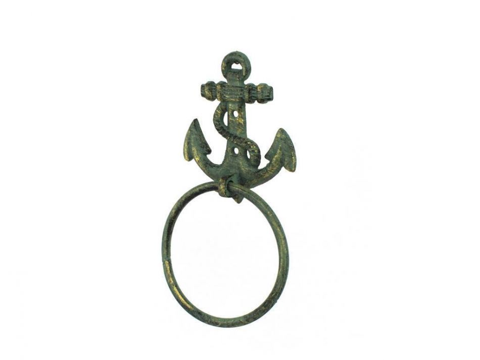 Wholesale Antique Bronze Cast Iron Anchor Towel Holder 8 5