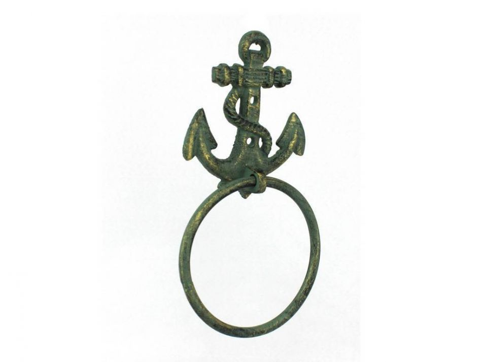 Buy Antique Bronze Cast Iron Anchor Towel Holder 8 5 Inch