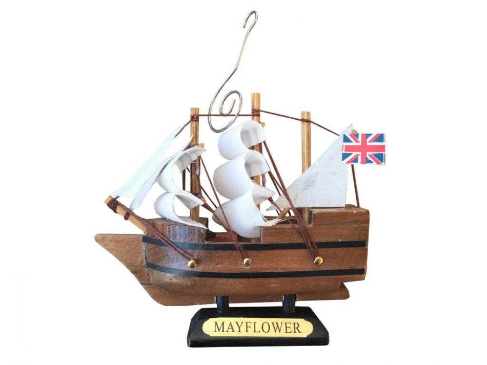 Wholesale wooden mayflower tall model ship christmas ornament 4 model ship assembled - Wholesale home decor merchandise model ...
