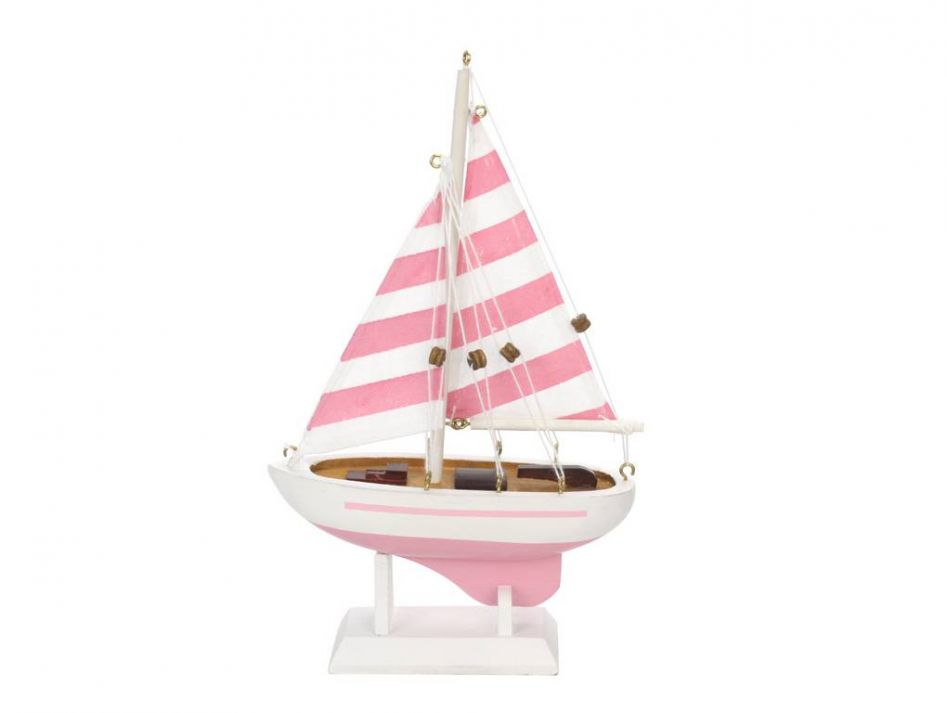 Wooden pretty in pink model sailboat quot