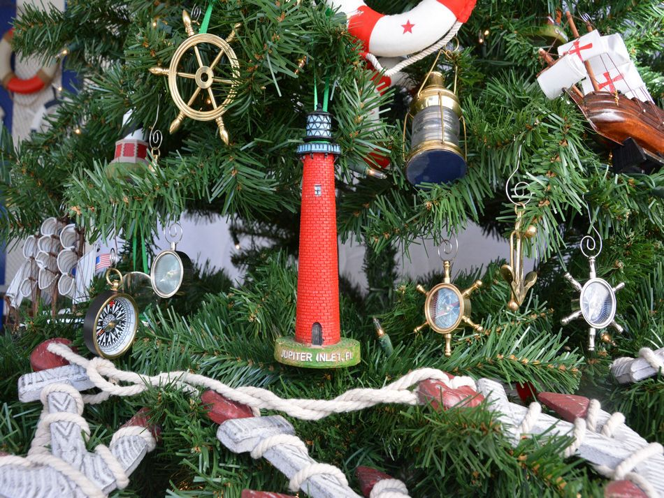 jupiter inlet lighthouse christmas tree ornament - Christmas Lighthouse Decorations