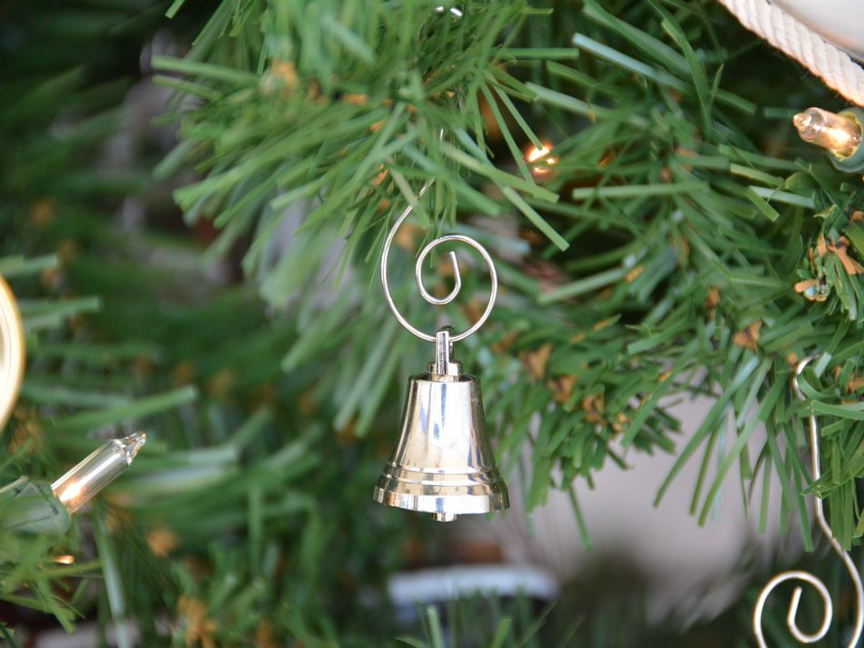 chrome bell christmas tree ornament
