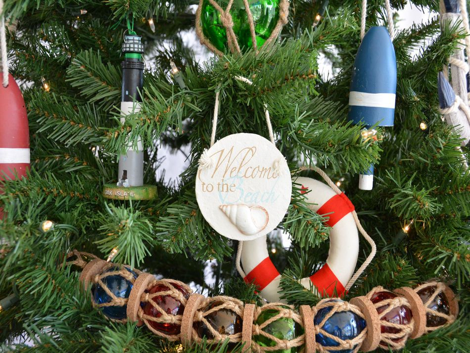 Welcome to the Beach Christmas Tree Ornament