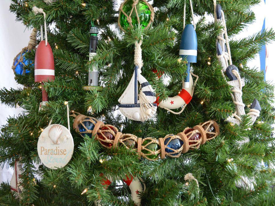 buy wooden rustic blue sailboat model christmas tree. Black Bedroom Furniture Sets. Home Design Ideas