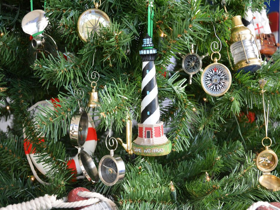 Buy Cape Hatteras Lighthouse Christmas Tree Ornament - Model Ships -