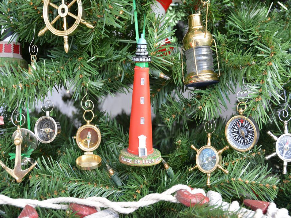 Wholesale Ponce De Leon Lighthouse Christmas Tree Ornament