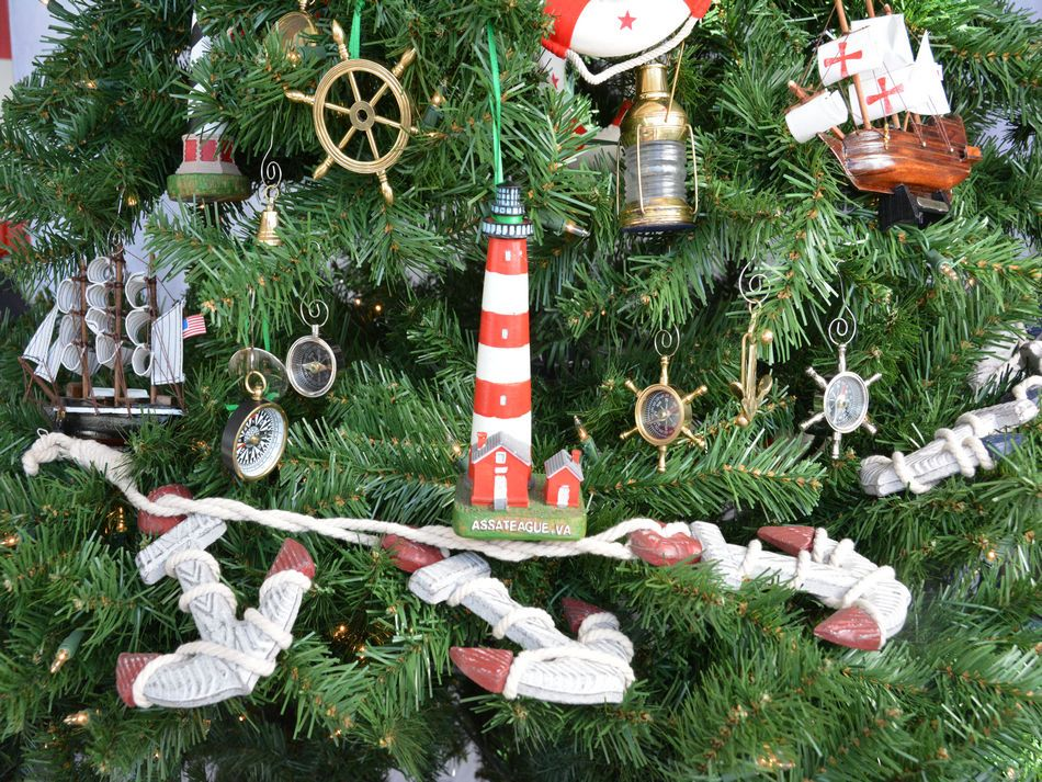 Assateague Lighthouse Christmas Tree Ornament
