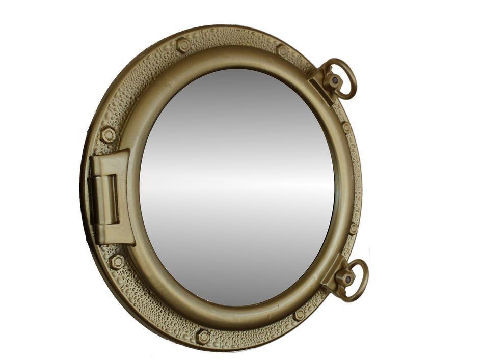 Wholesale Gold Leaf Finish Porthole Mirror 20 Inch